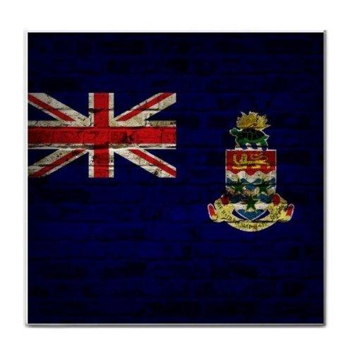 Cayman Islands Flag Brick Wall Design Tile ()