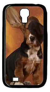 Samsung Galaxy S4 I9500 Cases & Covers -Basset Hound Vs Fan Custom PC Hard Case Cover for Samsung Galaxy S4 I9500¡§CBlack
