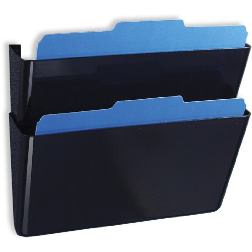 Officemate Wall File, Letter Size, Black, 2 Pack (Officemate Wall)