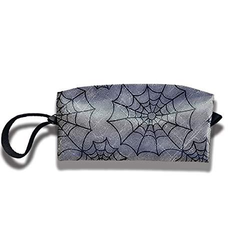 FRTSFLEE Pencil Bag Makeup Bag Halloween Spider Web Women Cosmetic Bag Multifuncition Durable Pouch Zipper Organizer -