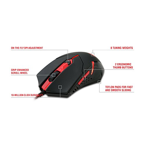 Aeropost Com Barbados Redragon M601 Gaming Mouse Wired With Red