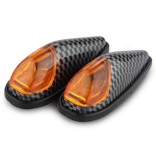 2 x 1W LED Clignotant Feux Indicateur Lumiè re Jaune Haute Puissance pour Moto Sunluxy Mall
