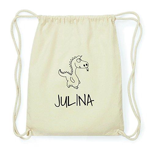 JOllipets JULINA Hipster Turnbeutel Tasche Rucksack aus Baumwolle Design: Drache