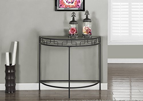 Monarch Specialties I 2111 Charcoal Grey Metal Hall Console Accent (36