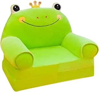 Amazon.com: Fivtyily Sofá plegable para niños, de felpa, con ...