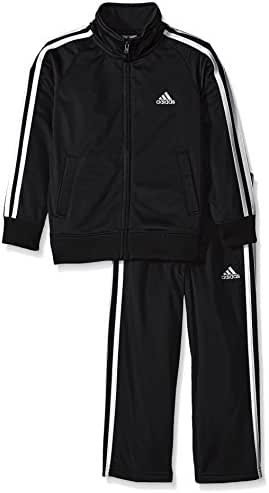 adidas Boys' Iconic Tricot Jacket and Pant Set