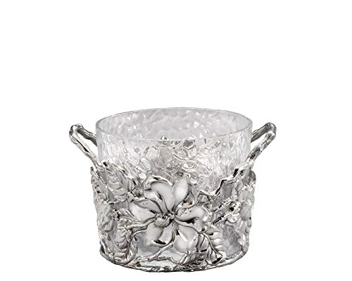 - Arthur Court Designs Aluminum Glass Magnolia Ice/Wine Bucket - Diameter 9