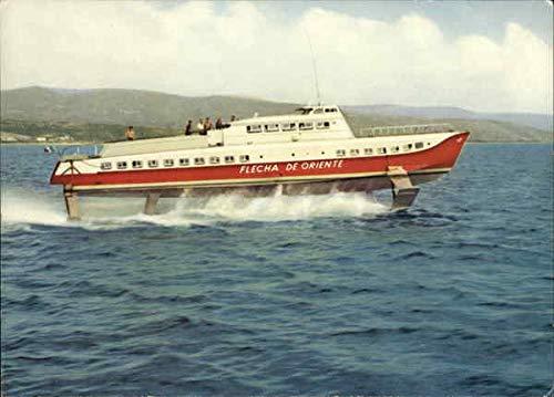 Flecha de Oriente Hydrofoil Boats Ships Original Vintage Postcard
