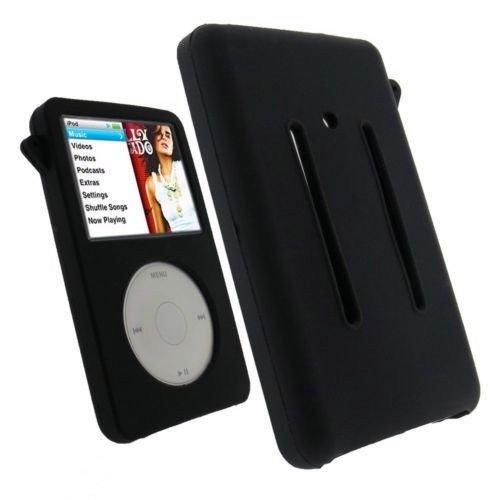 Silicon Case Ipod Video (Thick Black Silicone Skin Case for iPod Classic 160gb/Video 5th Gen 60GB/80GB)