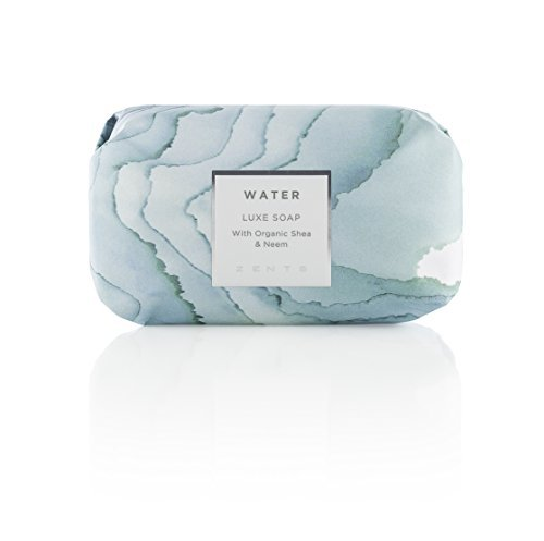 - Zents Luxe Soap, Water, With Organic Shea Butter and Neem Oil, 5.7 oz/163 g