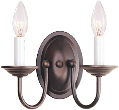 4152-07 Livex Lighting Home Basics Wall Sconce in Bronze