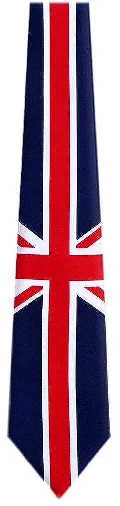 FLAG-313-UK Union Jack Neuheit Krawatte - Blau - Rot - Weiß