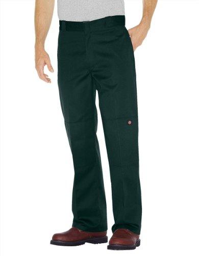 Leg Dickies Wide (Dickies 85283 Original Double Knee Loose Fit Pant, Hunter Green (31W X 32L, Hunter Green))