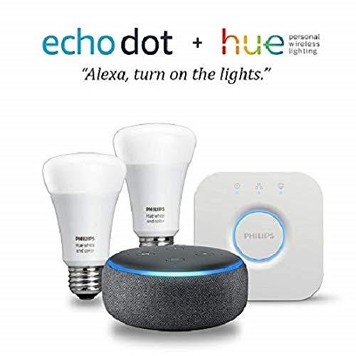 Echo Dot (3rd Gen) -  Smart Light Bulb Starter Kit $89.99