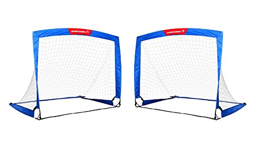 wiel 4'x3' Soccer Goal Easy Fold-Up Training Goal, Set of 2
