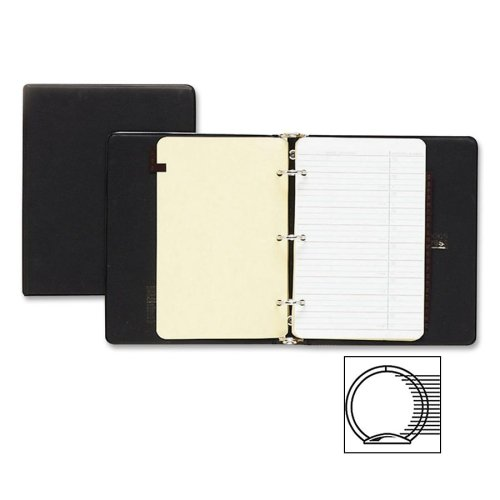 Wholesale CASE of 10 - Acco/Wilson Jones Loose-Leaf Phone/Address Book-Phone/Address Binder, 1600-Entry Cap, 8-1/2''x5-1/2'', Black