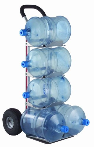 Magline-HBK128HM4-Aluminum-Bottle-Water-Hand-Truck-Loop-Handle-Pneumatic-Wheels-Silver-500-lbs-Load-Capacity-55-Height-11-Width-x-20-Depth
