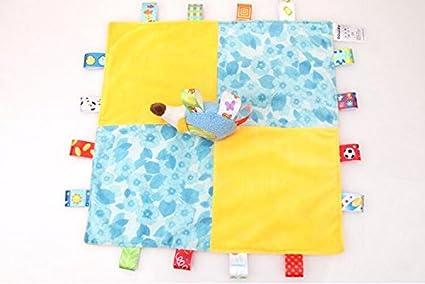 Luxury-uk Toallitas para bebé Manta de bebé Snuggle Comforter Erizo de marioneta Suave con
