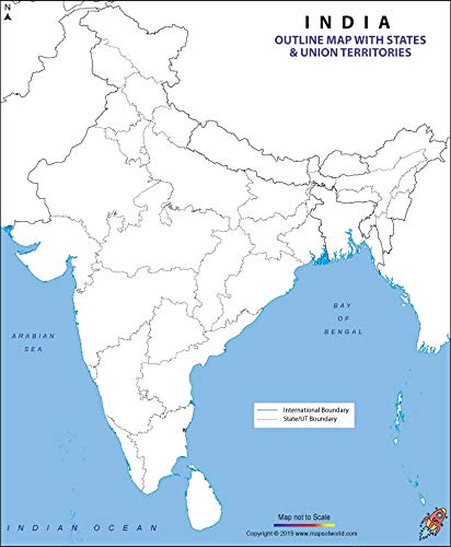 Outline Map Of India Buy SMALL OUTLINE PRACTICE MAP OF INDIA Political Book Online at