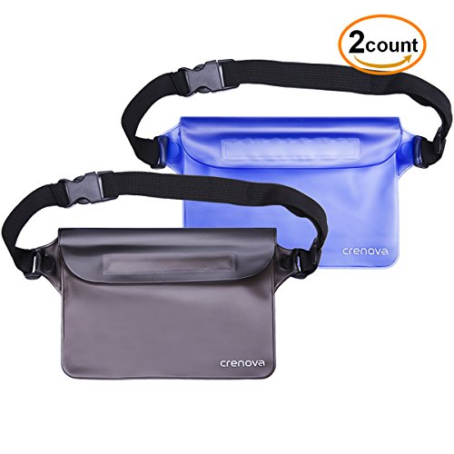 Waterproof Pouch | Crenova BP-02 100% Waterproof Dry Bag Snowproof Dirtproof Sandproof Case Bag with Super Lightweight and Bigger Space; Adjustable and Extra-Long Belt; Perfect for Beach / Swimming /