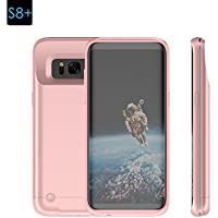Samsung S8 Plus Battery Case, Moonmini Charger Case for Galaxy S8 Plus Ultra Slim 5200mAh Portable External Battery Power Bank Backup Extended Charger Protective Cover (Rose Gold)
