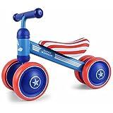 Baby Balance Bike Children Walker Toddler Ride On Infant Walk Toys Walk Bike No Pedal Push Bicycle (Captain America)