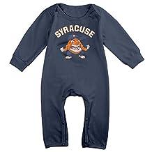 ElishaJ Syracuse University Football Babys Long Sleeve Romper Onesie Navy