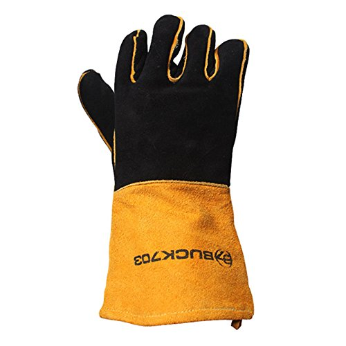 BUCK703 Camping Flame & Heat Resistant Gloves, BBQ Gloves...