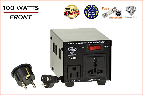 Dynastar Step Up & Step Down Voltage Converter and Transformer, 110-220 to 220-240 Volts; Heavy Duty, Extra Durable Lifetime Coil, 5-Year-Warranty, 100 -