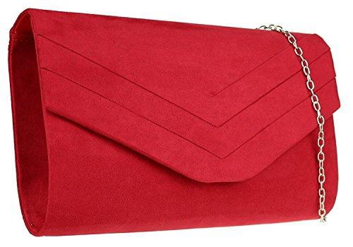 Llanura sobre G Faux Blanco del Bag amp; H embrague ante Rojo del Eqw4xT8