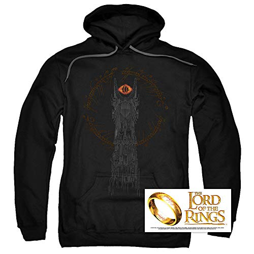 Jumper Ring - Popfunk Lord of The Rings Tower of Sauron Eye Pullover Hoodie Sweatshirt & Stickers (XX-Large)