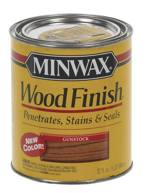 - Minwax 70045 1 Quart Gunstock Wood Finish Interior Wood Stain