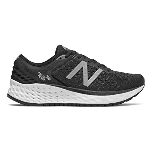 New Balance Women's 1080v9 Fresh Foam Running Shoe, Black/White, 8.5 M US