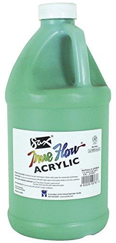 Sax True Flow Non-Toxic Waterproof Medium Body Acrylic Paint, 0.5 gal Plastic Bottle, Phthalocyanine Green