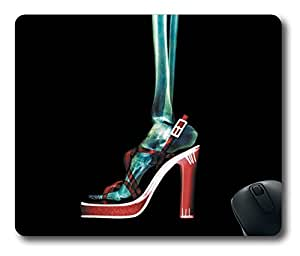 X-Ray High-heeled shoes Foot POP Easter Thanksgiving Personlized Masterpiece Limited Design Oblong Mouse Pad by Cases & Mousepads