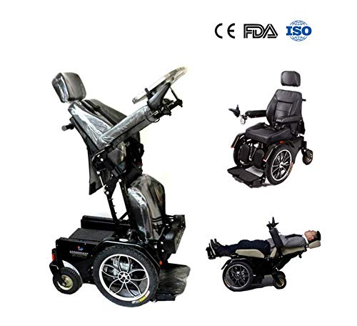 Wenore Electric Wheelchair,Comfortable Electric Standing Wheelchair with Electromagneties Brake, Power Wheelchair Stand Up