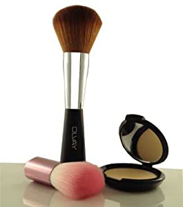 OLVAY Vegan Makeup Brushes. Professional, Premium Quality, Cosmetic Kabuki For Minerals, Bronzers Or Blush. Easy Blending For Loose Or Pressed Foundation. Non-Shed, Super Soft and Easy Blending. Cruelty-Free. Bonus Bronzer Brush and Travel Pouch.