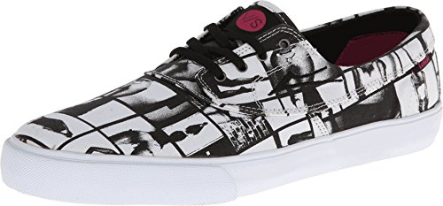 Lakai Mens Camby Skate Shoe Nero / Bianco Canvas