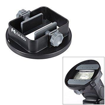 Andoer Universal Flash Adapter Mount Bracket for Nikon Canon Yongnuo Godox Speedlight Barn Door Mini Refelctor by Andoer