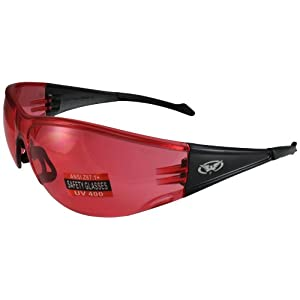 Global Vision Full Throttle Glasses (Black Frame/Red Lens)