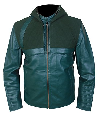 Leatherly sintetico Con Giacca Cappuccio Verde Removibile Pelle Sintetico Arrow Uomo r14qxZwr
