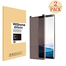 Samsung Galaxy Note 8 Tempered Glass Screen Protector (Privacy), Wtbone Case Friendly, 3D Curved Edge, Bubble-Free, Easy to Apply, Anti-Spy for Samsung Galaxy Note 8