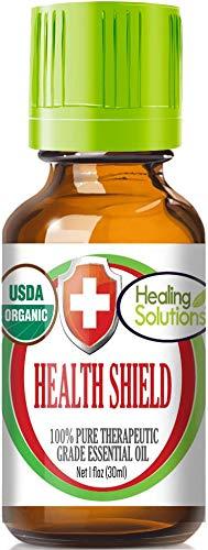 Organic Health Shield Blend Essential Oil (100% Pure - USDA Certified Organic) Best Therapeutic Grade Essential Oil - 30ml