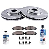 "Detroit Axle - 11.26"" (286mm) FRONT Brake Rotors & Ceramic Brake Pads w/Clips & BRAKE CLEANER & FLUID INCLUDED for Buick Regal Chevrolet Lumina Monte Carlo Olds Cutlass Supreme Pontiac Grand Prix"
