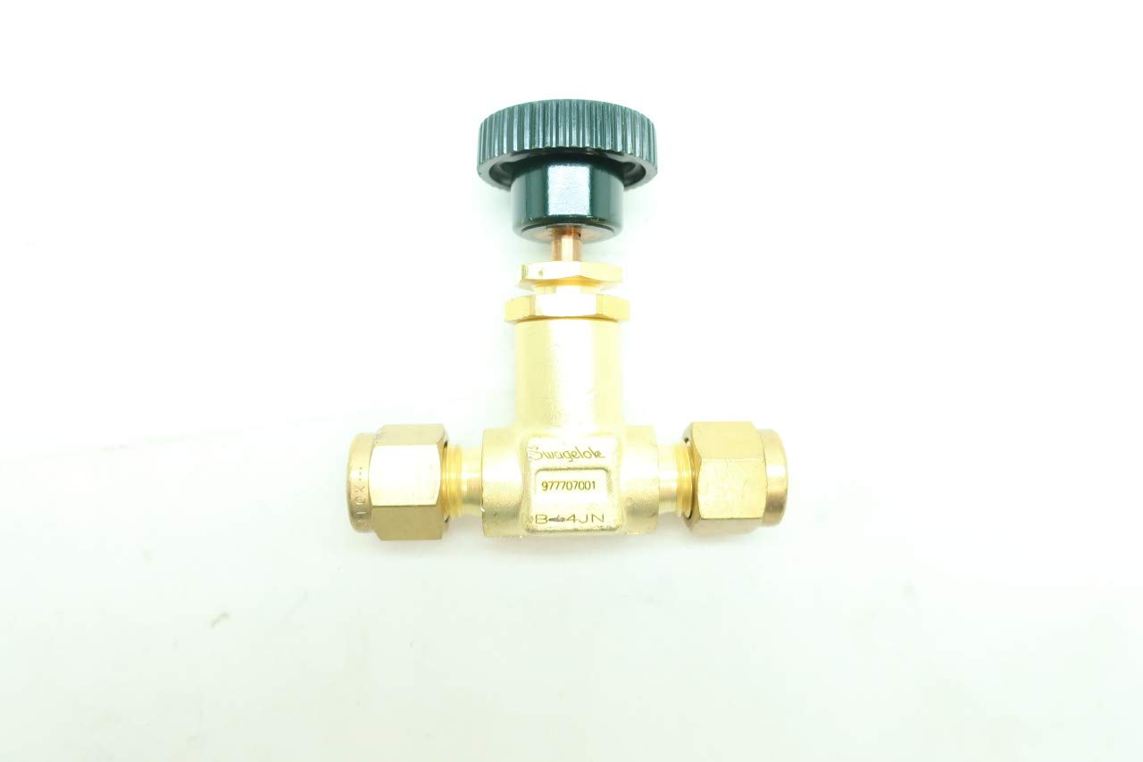 SWAGELOK B-4JN Manual Brass Needle Valve 1//4IN Tube