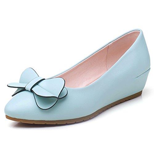 Dulce otoño puntiagudos zapatos ligeros/ aumentar arco zapatos de las mujeres/Zapatos de cuñas/Mujer tacones D