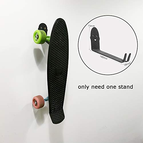 Maxfind Skateboard Wall Rack   Mount for Storing Your Skateboard or Longboard Bike Bicycle Wall Stand Mount   Simple Design and Easy to Install.