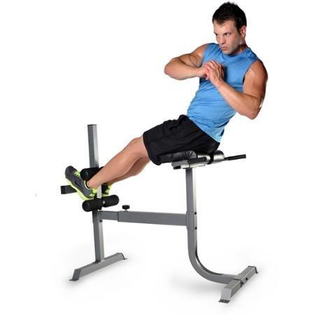 Deluxe Roman Chair Hyperextension Bench Gray Multicolor
