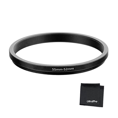 UltraPro Step-Down Adapter Ring 55mm Lens to 52mm Filter Size (Step Down Ring Lens Filter)