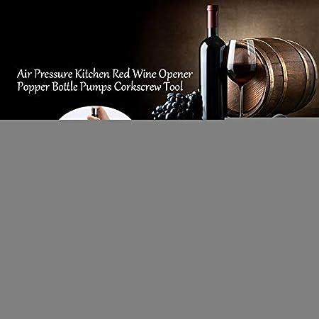 Niunion Sacacorchos, Air Pressure Kitchen Abrebotellas de Vino Tinto Herramienta de sacacorchos Negro con Hoja